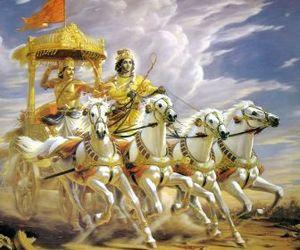 Krishna and arjuna image