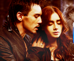 city of bones, valentine, and clary fray image