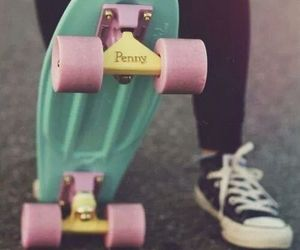 penny, skate, and converse image