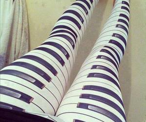 piano, leggings, and cool image