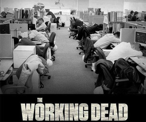 funny, the walking dead, and work image