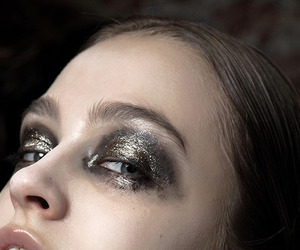 makeup, eyes, and model image