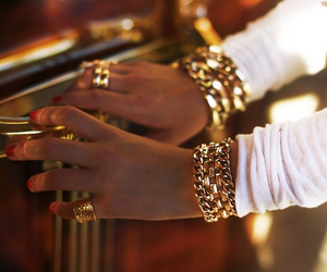 girl, luxury, and gold image