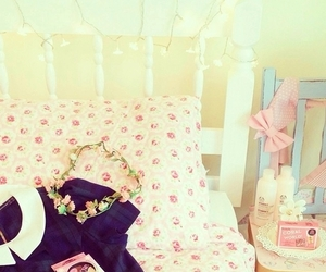 room, bed, and bow image