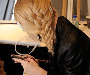 blackberry, hair, and braid image