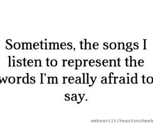 song, afraid, and quote image