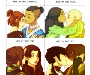 kiss and sokka image
