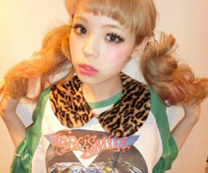 blonde, japanese, and leopard image