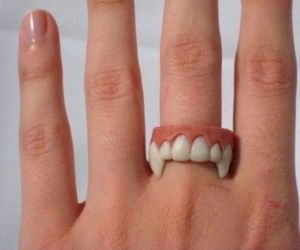 ring, vampire, and hand image