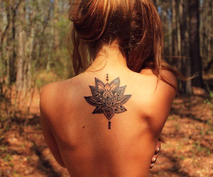 beautiful, tattoo, and back image