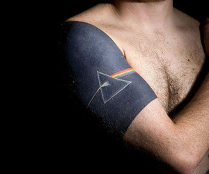 Pink Floyd, tattoo, and man image