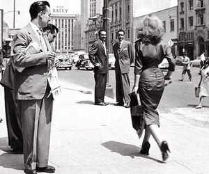 50s, fashion, and black and white image
