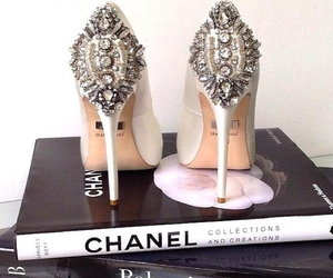 books, chanel, and diamonds image