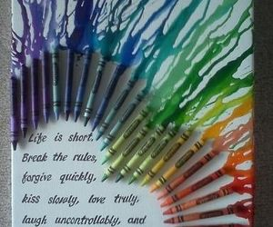 life, crayon, and quote image