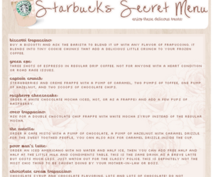 barista and starbuck's secret menu image