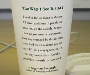 quote, starbucks, and coffee image
