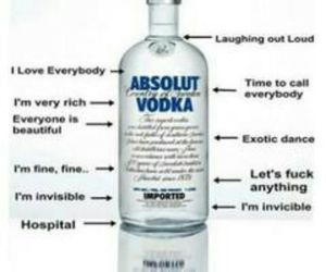 absolut, drinks, and drunk image