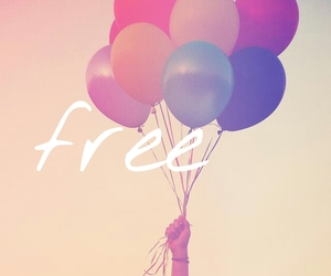baloons, free, and sky image