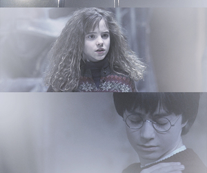 Daniel Radcliff, emma watson, and harry potter image