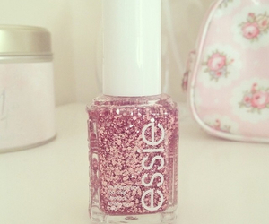 essie, pink, and glitter image