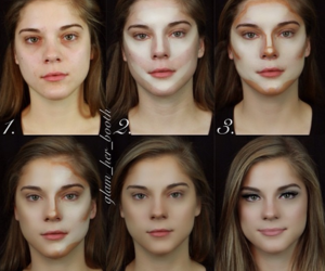 makeup, make up, and contour image