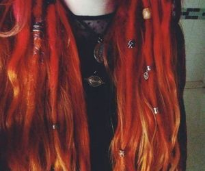hair, red, and dreads image