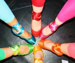 ballet, ballet shoes, and colorfull image