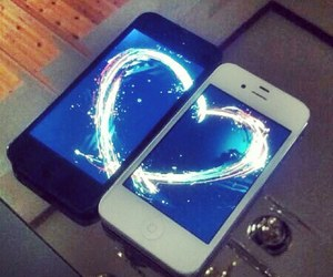 heart, iphone, and love image