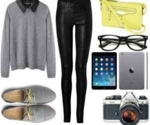 grey, Polyvore, and sweater image