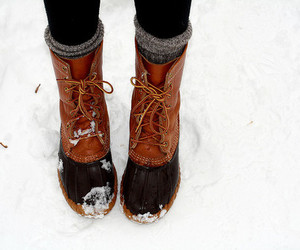 snow, boots, and shoes image