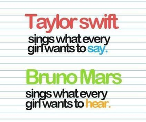 bruno mars, Taylor Swift, and quote image