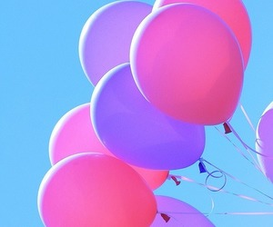 balloons, vibrant, and pink image