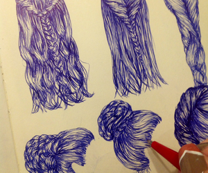 art, hair, and hipster image