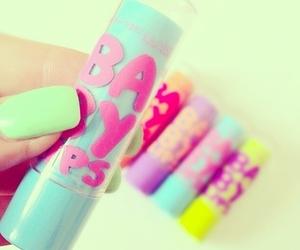baby lips, nails, and make up image