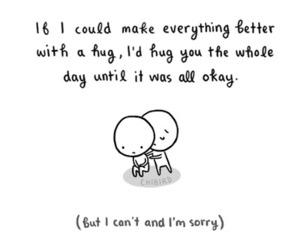 hug and quote image