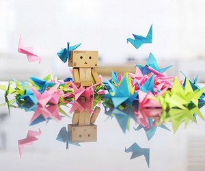 danbo and origami image
