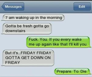 die, friday, and funny image