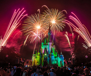 fireworks, disney, and beautiful image