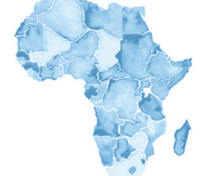 africa, blue, and map image