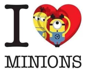 minions, love, and yellow image
