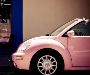 baby pink, car, and doll image