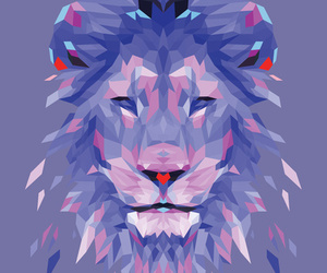 lion, art, and purple image