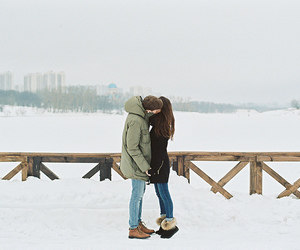 beautiful, kissing, and couple image
