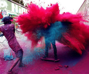 colors, blue, and pink image