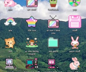 kawaii, computer, and grunge image