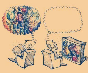 book, tv, and imagination image