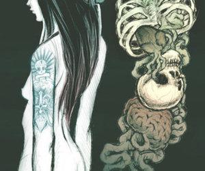 girl, art, and brain image