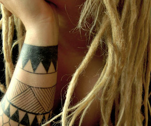 girl, tattoo, and dreads image