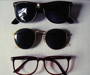 glasses, vintage, and sunglasses image