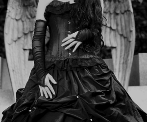 angel, goth, and gothic image